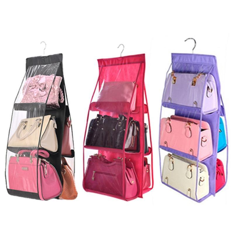 Дважды боковой двери висит сумка для хранения прозрачная сумочка держатель складной Висит Сумочка Организатор прочие сумка для хранения о...