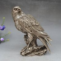Bronze statues Vintage Eagle Statue Copper Silver Plated Home Hotel Decoration Sculpture Collection Gifts mx4271738