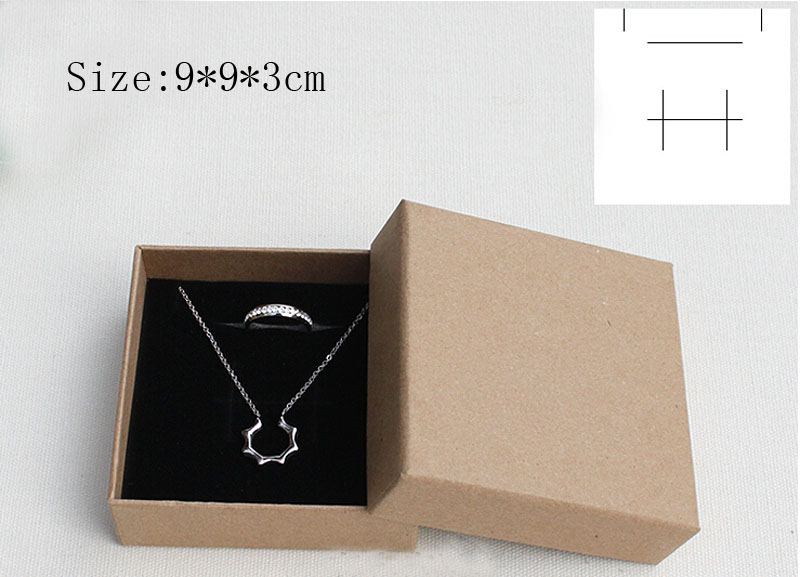 Box For Jewelry Free shipping wholesale 50pcs/lot Necklace Pendant Bracelet Packaging Boxes Kraft Paper Gift Jewelry Boxes