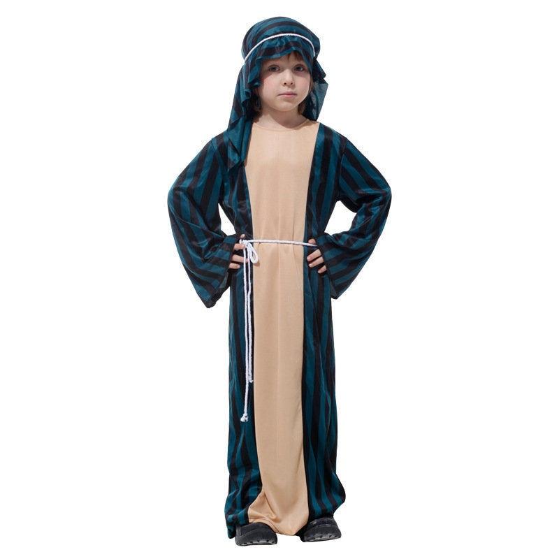 Child Arabian Sheik Costume Kids Arab Desert Prince Outfit