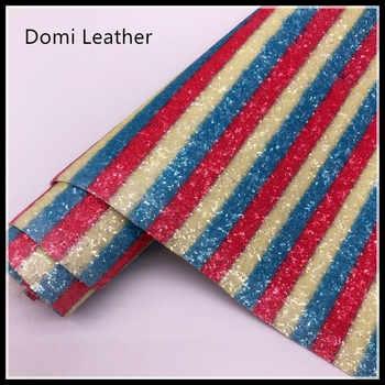 (DM6087) Chunky Rainbow Glitter ผ้าสำหรับ Hairbows