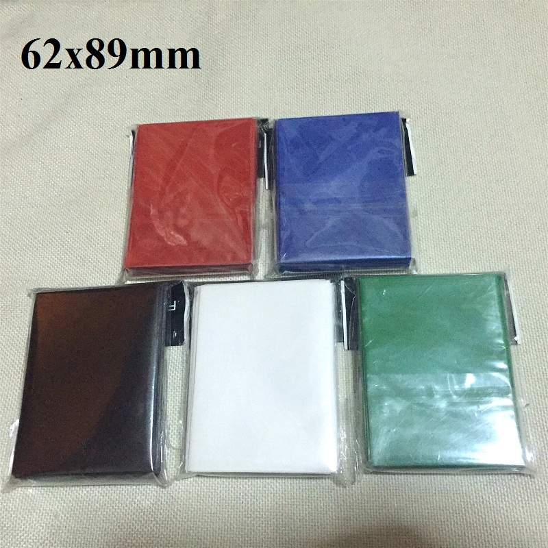 100pcs 62x89 mm colorful small size Board Game Cards Sleeves Barrier Card Protector for Yu-Gi-Oh! cards game sleeve TCG cards