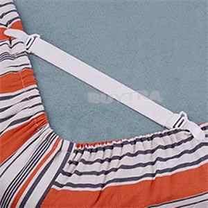 4 Pcs สีขาวผ้าปูเตียงที่นอนผ้าห่ม Grippers ยึดคลิปยึดชุดยางยืด