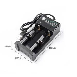Image 2 - Rovtop 18650 зарядное устройство Черный 2 слота AC 110V 220V Dual для 18650 зарядки 3,7 V перезаряжаемая литиевая батарея