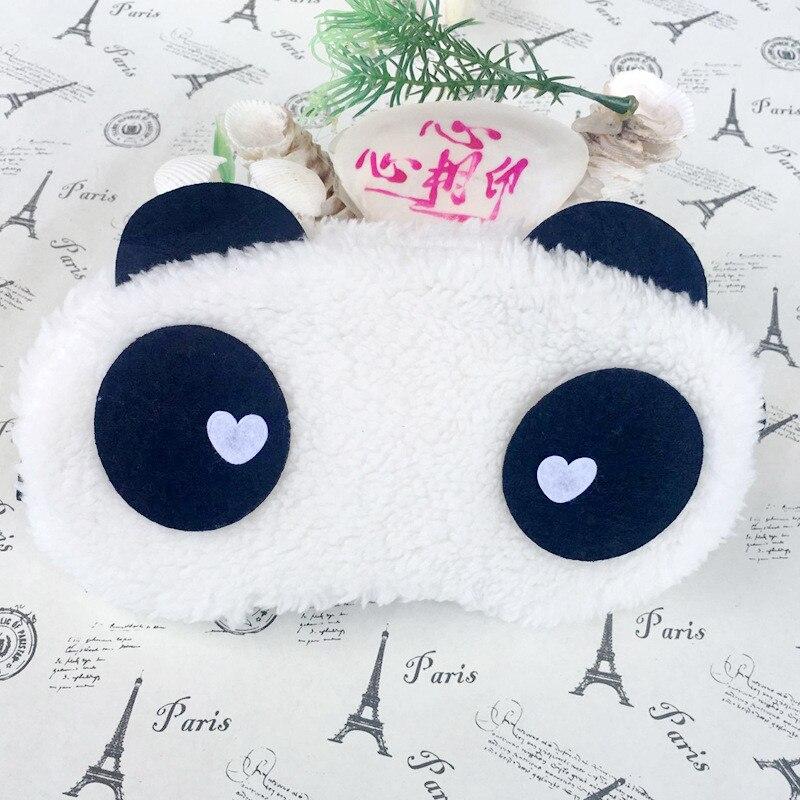 Goggles Eye-Mask Sleep Ce White Eyeshade Eye-Cover Health-Care Face Panda Cotton Cute