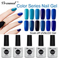Vrenmol 1pcs Soak Off 60 Shining Colors Gel Nail Polish  Manicure Soak-off Lacquer Colorful Vernis Semi Permanent