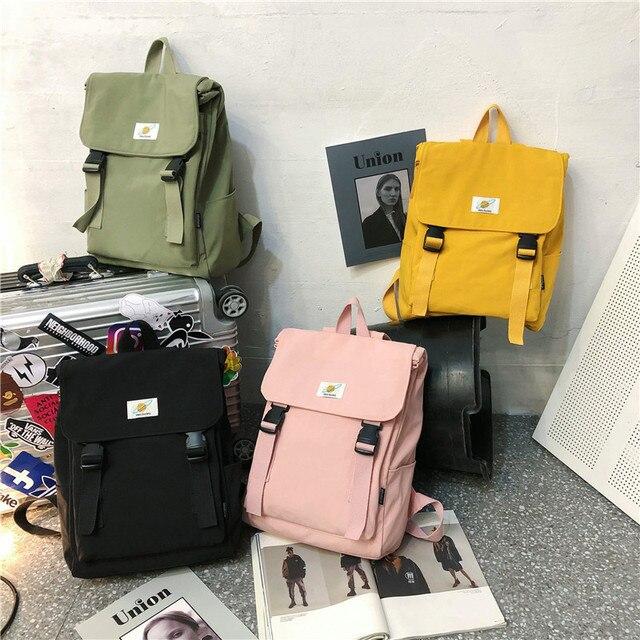 Waterproof Backpack Women Canvas School Bags Travel Bag for Teenage Girls Bagpack Rucksack Ladies Sac A Dos Mochila Mujer