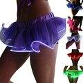Comercio al por mayor Sexy Light Up LED Etapa Del Tutú Dancewear Danza Del Tutú Mini Falda Del Partido de Tarde Elegante Plisado Falda de Las Colmenas