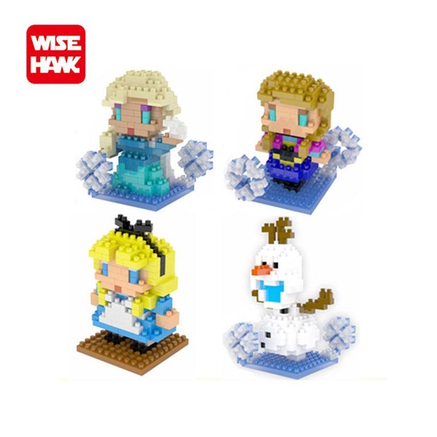 Wisehawk Nanoblocks Princess Anne Elsa Anime Cartoon Plastic Model Snow Queen Series Micro bricks Christmas Gifts Learning Toys 2016 infantil reloj snow queen princess elsa anna cartoon watch 3d children kids quartz wristwatches clock
