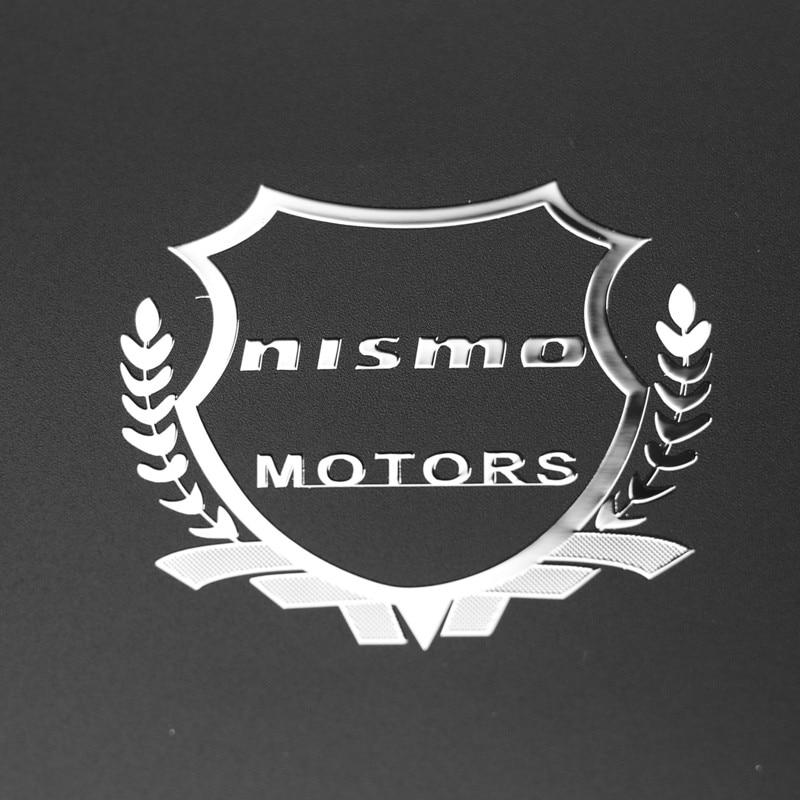 2pcs Excellent 3D metal car sticker Emblem Badge case For Nissan Nismo Tiida Teana Skyline Juke X-trail Almera Car Styling модель машины other ]autoart 1 18 nismo skyline gtr r33 r tune