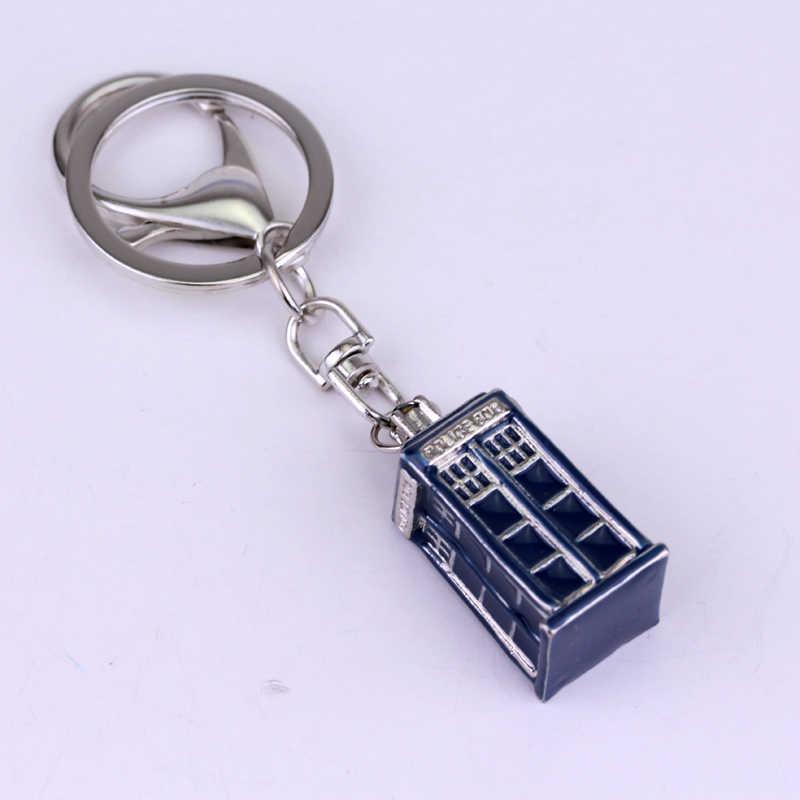 Mqchun Dokter Siapa Gantungan Kunci 3D Logam Dalek Tardis Police Box Gantungan Kunci Wanita Pria Hiasan Liontin Mobil Gantungan Kunci Pesta Cosplay hadiah