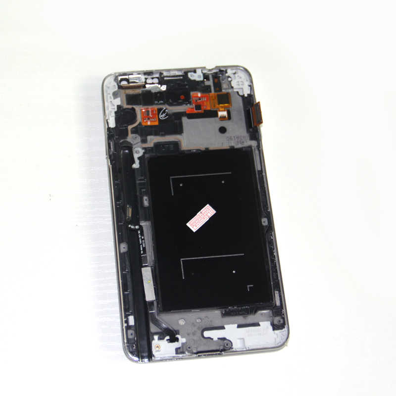 لسامسونج غالاكسي ملاحظة 3 N9005 Note3 شاشة الكريستال السائل الزجاج لوحة + ل غالاكسي N9005 LCD مجموعة المحولات الرقمية لشاشة تعمل بلمس استبدال
