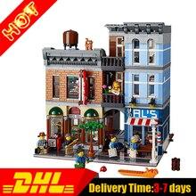 2017 MOC LEPIN 15011 Detektyw Ulicy Miasta's Biuro Dom Modelu Bloki Ustawione Cegły Klon 10246