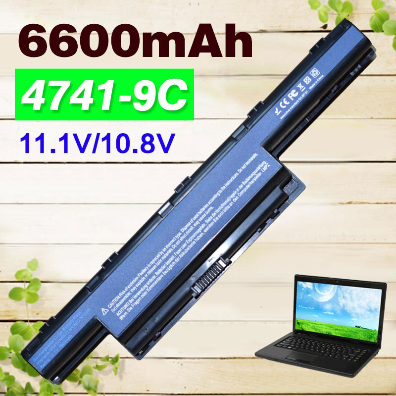 9 cells Battery for Acer Aspire New75 AS10D31 AS10D51 AS10D61 AS10D71 AS10D41 4741