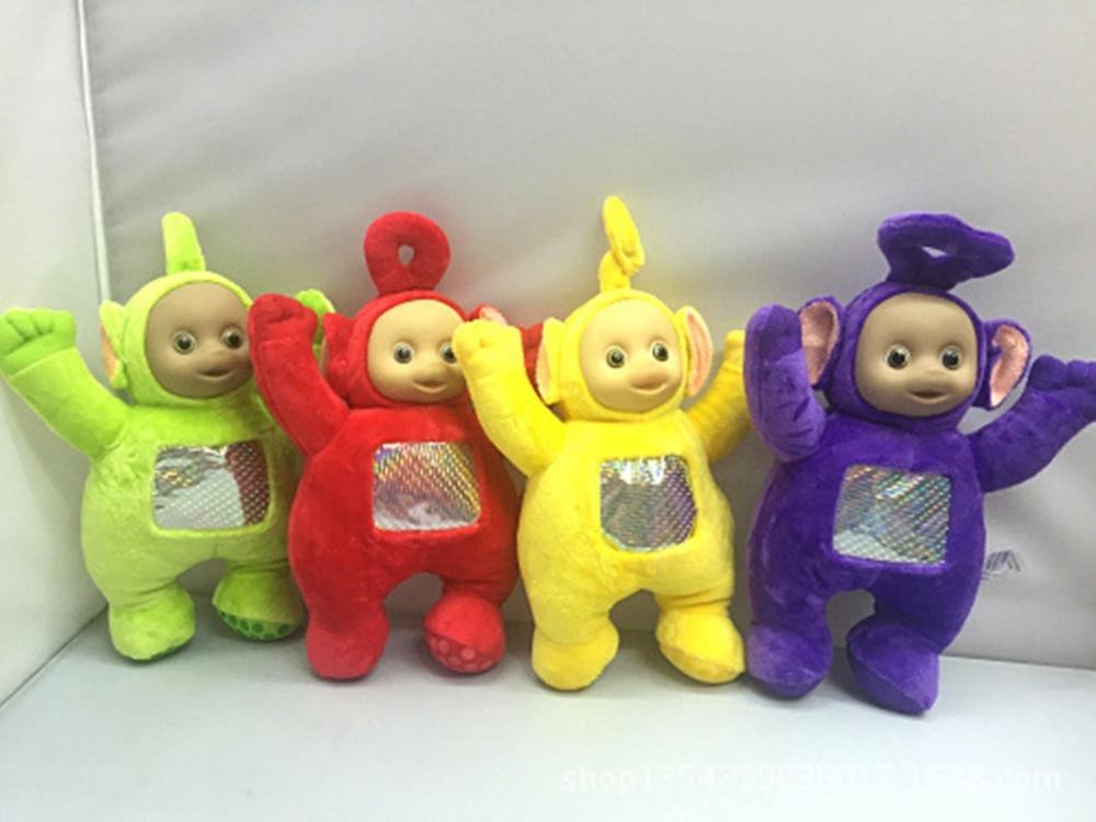 4pcs/set 27CM Free Shipping Toys & Hobbies Stuffed Dolls Original Teletubbies Vivid Dolls High Quality Hot Selling Plush Toys