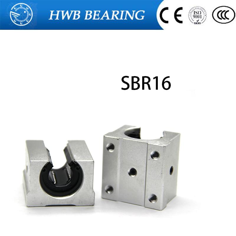 1 шт., SBR16UU, алюминиевый блок 16 мм, стандартный скользящий блок, используется линейная направляющая SBR16 16 мм