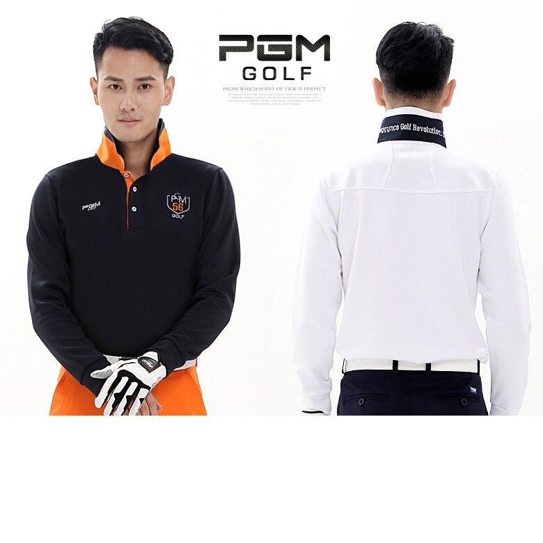 PGM Mens Golf Apparel Long Sleeve, Mens Golf Apparel Workout Shirt, GOLF Mens Pro Long Sleeve Base Layer Fitted DriFit Shirt