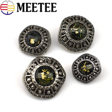 20PCS High Quality Resin Rhinestones Button Retro Coat Sweater Decorative Buttons Scrapbooking Sewing Accessories