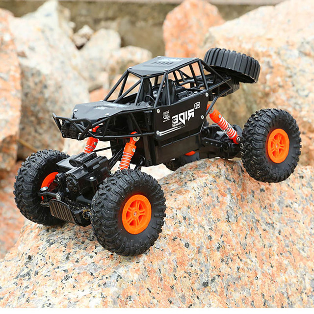 alloy 2.4G rc car 1/16 10km/h Off-Road Drive Bigfoot cars electric four-wheel climbing Double Motors Vehicle toys car for gift 4