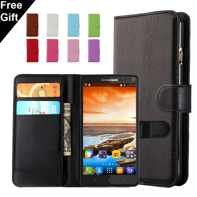 Lichee Pattern Wallet PU Leather Case For Lenovo A319 A536 A850 S60 S90 S820 S850 S860 P1 P1m K3 Note Cover Shell Card Holder