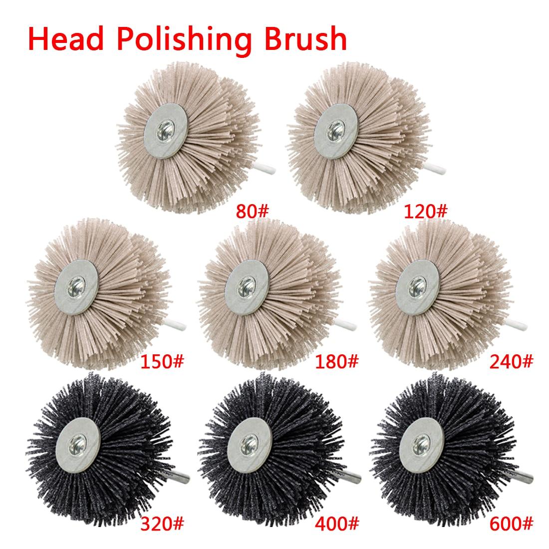 Grinding Flower Head Abrasive Nylon Wheel Brush Woodwork Polishing Brush Bench Grinder For Wood Furniture Mahogany