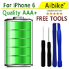 Aibike Mobile Phone Battery 1960mAh For IPhone 6 4 7 6G Battery Replacement High Capacity
