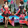 MOONIGHT Alice In Wonderland Halloween Queen Of Hearts Costume Cosplay Red Poker Playing Card Game Fancy