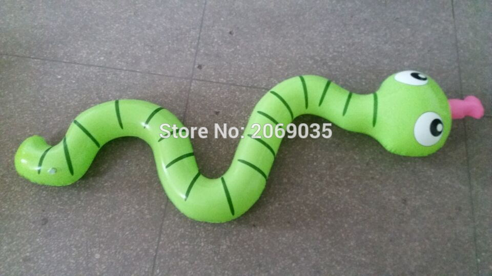 3pcs set Children Inflatable Snake Pool Float 170cm Giant Green Kids Swimming Ring Serpent Noddle Floats Water Party Toy Piscina in Pool Rafts Inflatable Ride ons from Toys Hobbies