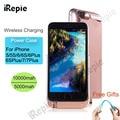 Irepie caso carregador de bateria para apple iphone 5 5s 6 6 s 6 mais 6 s mais 7 7 mais 10000 mAh PowerBank Carregamento Da Bateria Clipe de Volta caso