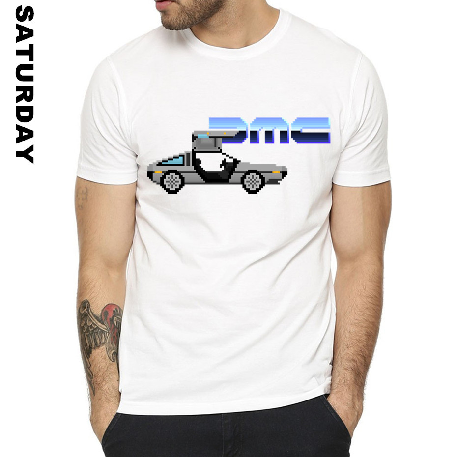 Men's DMC DeLorean Design Funny T Shirt Women Unisex Comfortable Breathable Graphic Premium T-Shirt Men's Streewear