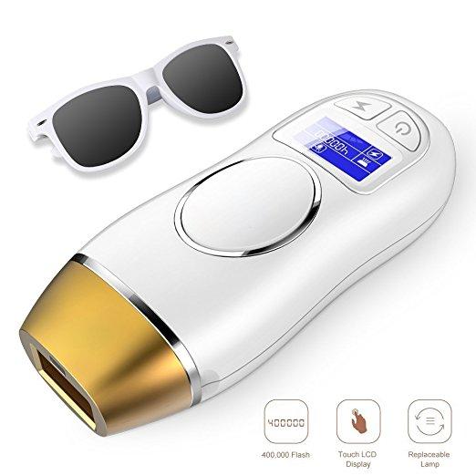 IPL удаления волос с свет бикини для удаления волос постоянным Эпилятор с ЖК-дисплей Экран для тела, лицо и бикини 400000 Flashe