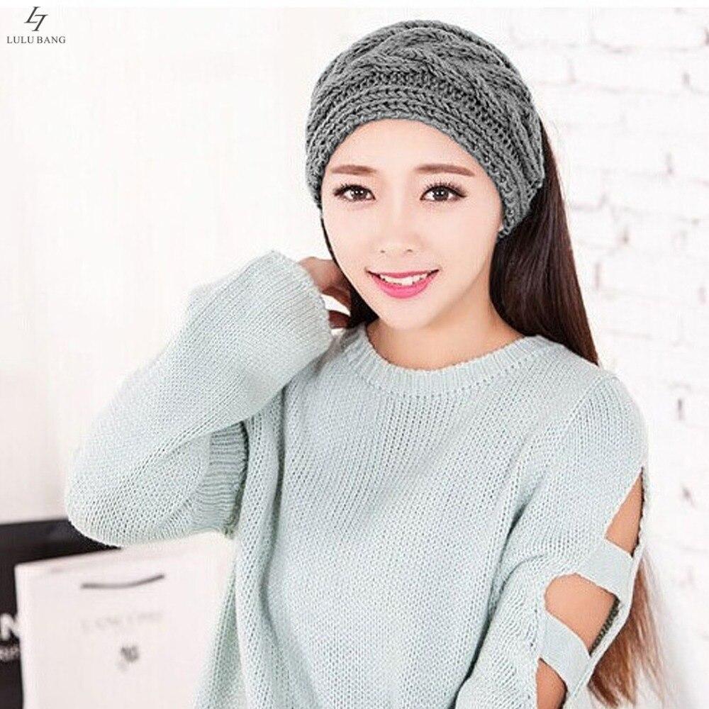 2015 New Crochet Headband Knit hairband Flower Twist Pattern Winter ...