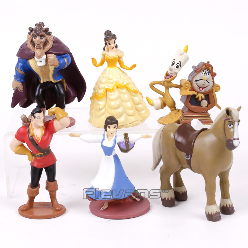 Beauty and the Beast Princess Bella Beast PVC Figures Toys Girls Gifts 6pcs/set patrulla canina with shield brinquedos 6pcs set 6cm patrulha canina patrol puppy dog pvc action figures juguetes kids hot toys