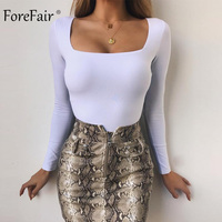 Forefair Sexy Bodycon Bodysuit 2021 Sommer Mode weibliche Solide Street Casual Overalls Frauen Körper Top Overall Outfits