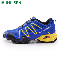 Muhuisen Men Casual Shoes Outdoor Male Climbing Boot Lace Up Men Hiking Boots With Quality Rubber Sold Men Casual Shoes