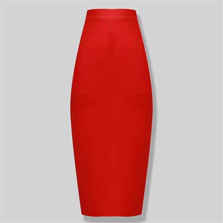 New Fashion 8 Colors Plus Size XL XXL Sexy Knee Length Bandage Skirt Women Elastic Bodycon Summer Pencil Skirts 78cm