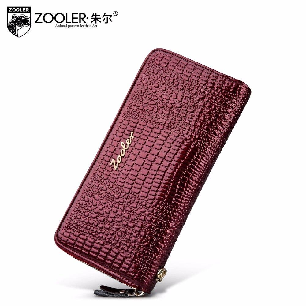 2018 ZOOLER véritable sac en cuir chaud portefeuilles femme sacs à main d'embrayage lady titulaire de la carte vachette de luxe portefeuille femme #8663
