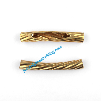 2013 New Jewelry findings  Bent twist Tubing tube spacer tube beads for bracelet 5*32mm