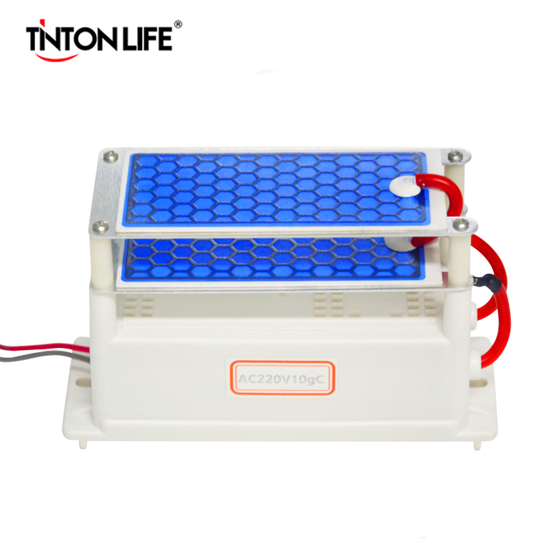 TINTON LEBENSDAUER Tragbaren Keramik Ozon-generator Doppel Integrierte Keramikplatte Ozonisator Luft Wasser Luftreiniger 220 V/110 V 10g A2-10