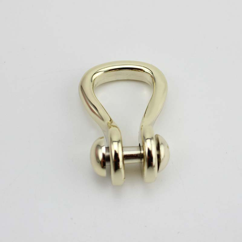 20pcs 6 5 32mm bags handle hardware light gold D Ring Shackle Zinc Finish making your