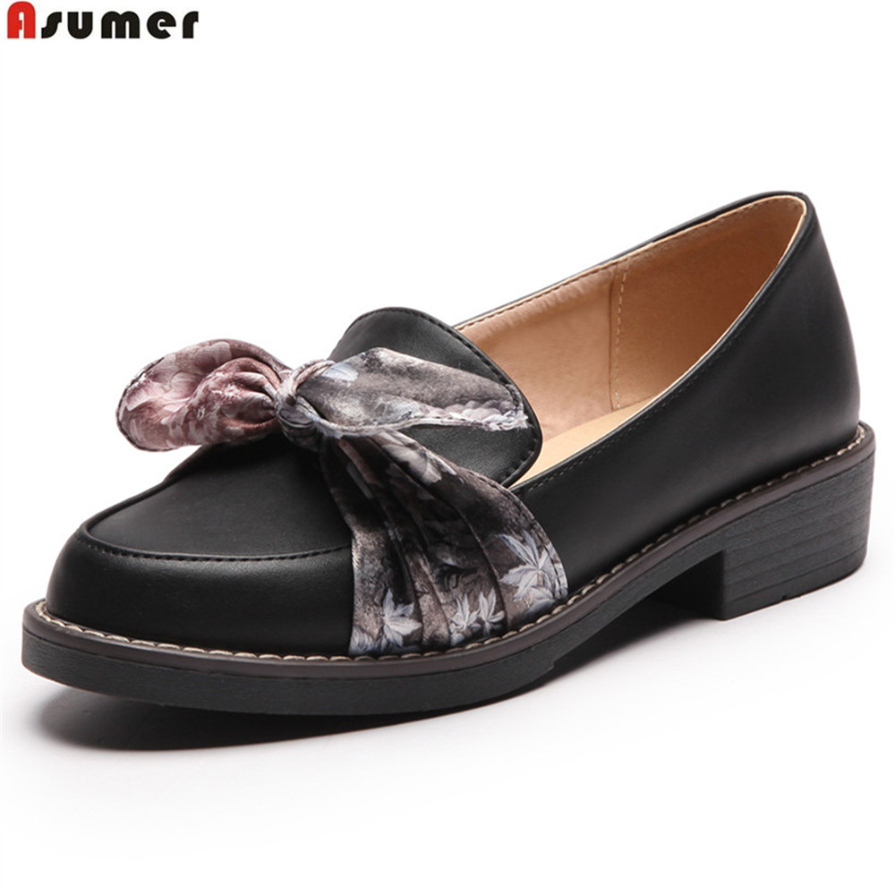 ASUMER black beige fashion spring autumn ladies shoes round toe casual single shoes square heel women med heels shoes size 43 foppapedretti passenger spring arancio beige
