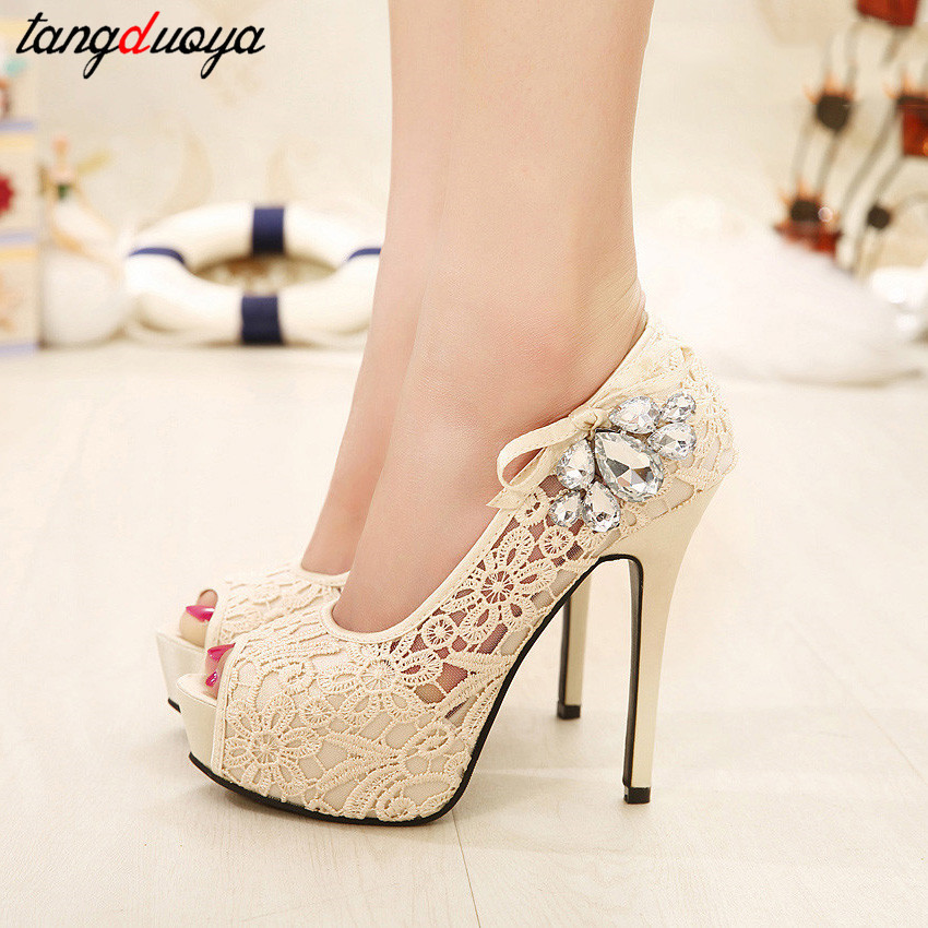 peep toe pumps women shoes high heel platform shoes women ...