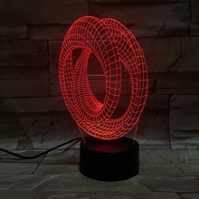 7 color Creative 3D illusion Lamp LED Night Light 3D Abstract Graphics Acrylic Colorful Gradient Atmosphere Lamp light IY803379