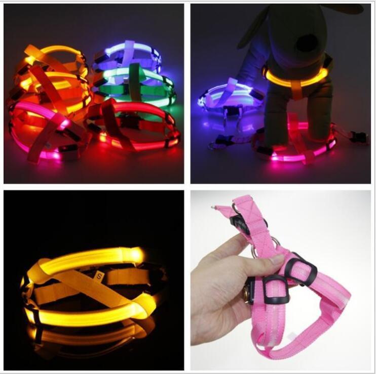 C03 스트라이프 애완 동물 강아지 LED 빛 하네스 애완 - 애완 동물 제품