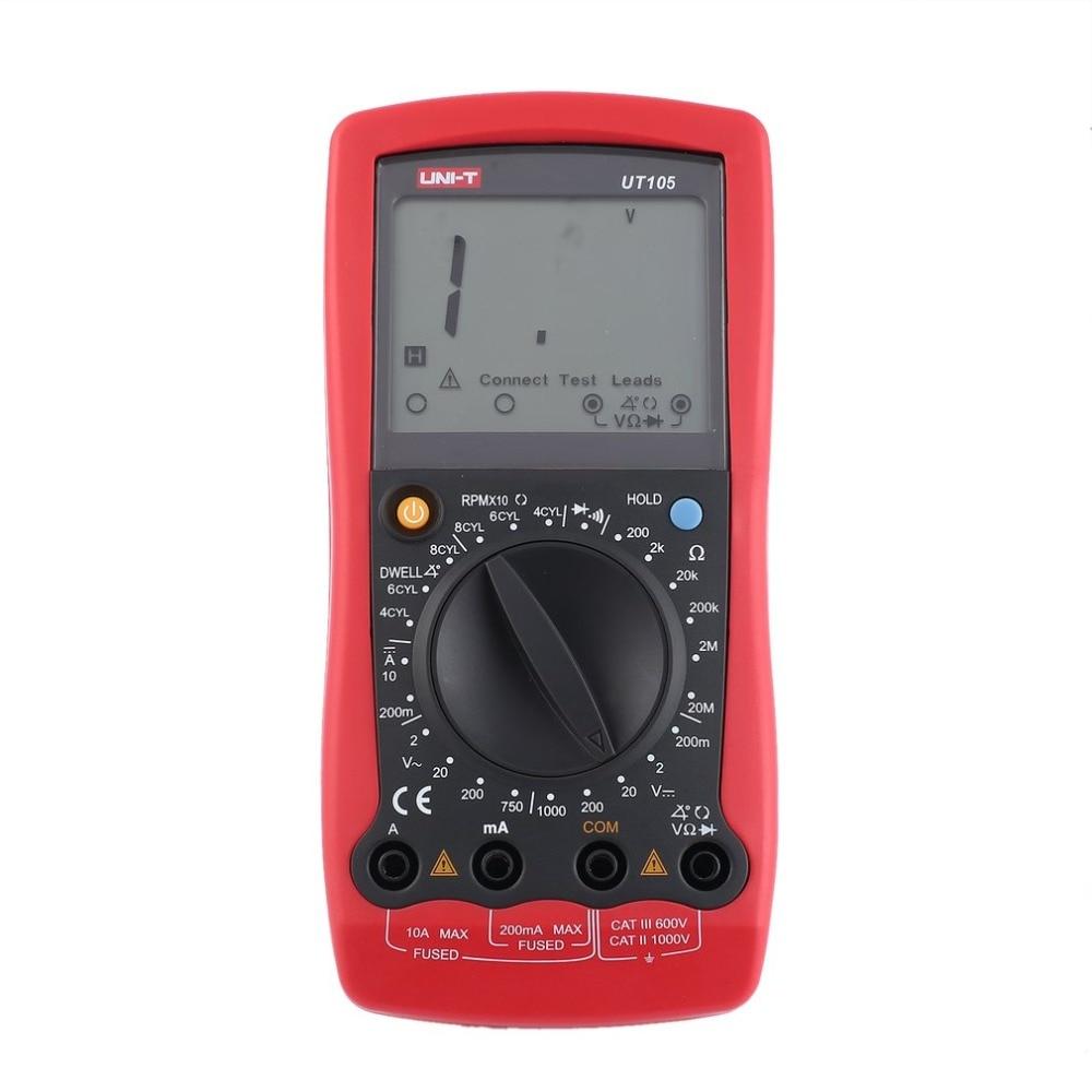 UNI-T UT105 Automotive Handheld Multimeter AC/DC Volt Ohm Diode Current Voltmeter Tester Meters Digital Ammeter Multitester цена