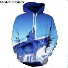 PLstar Cosmos 2017 Mode Männer Frauen Hoodies Tier Galaxy Wolf 3D print Pullover Kühlen Herbst Harajuku stil Hoody Sweatshirt