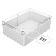 263 x 185 x 95mm Plastic Waterproof Housing Junction Case Power Supply Box  DIY  Transparent Cover Electronic Sealed Instrument