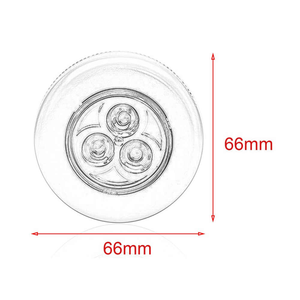 Мини 3 светодиодный s сенсорный светильник светодиодный настенный шкаф Ночной светильник на батарейках прикроватный аварийный светильник оптовая продажа
