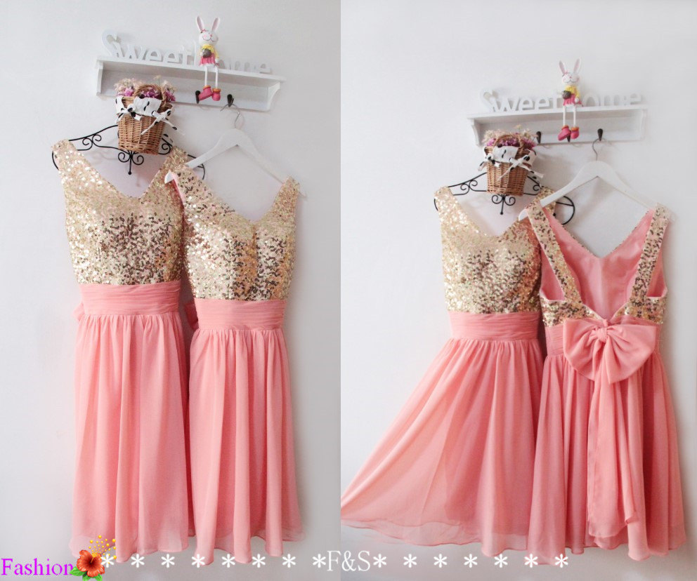 Online Get Cheap Coral and Gold Dresses for Wedding -Aliexpress ...