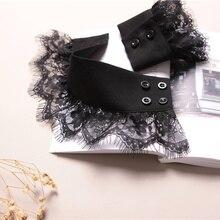 Осень зима свитер декоративные наручные с накладным рукавом s дикого лотоса свитер с рисунком «листья» украшения рукава сетки кружева с накладным рукавом поддельные манжеты